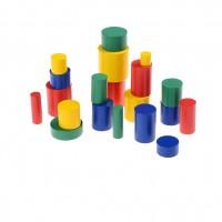 Комплект: Монтесори дървени цилиндри