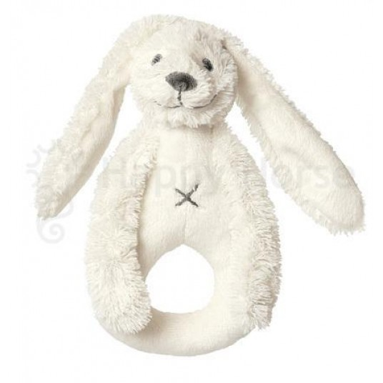 Дрънкалка Зайчето Richie - бяло (19см)