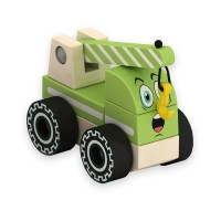 Дървена играчка за сглобяване – кран