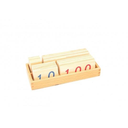 Комплект дървени плочки с числа