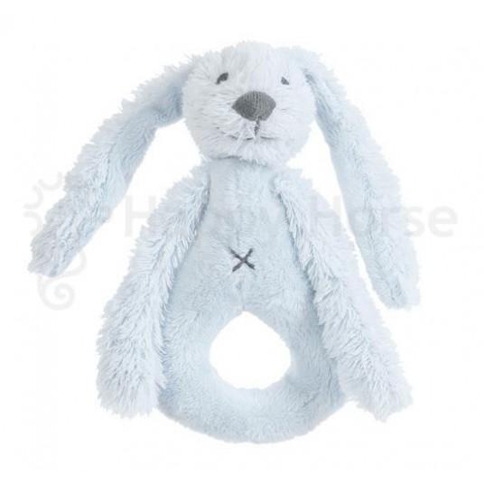 Дрънкалка Зайчето Richie - синьо (19см)