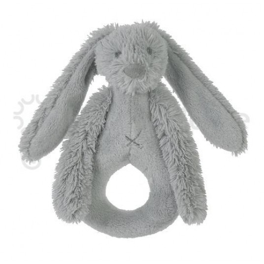 Дрънкалка Зайчето Richie - сиво (19см)