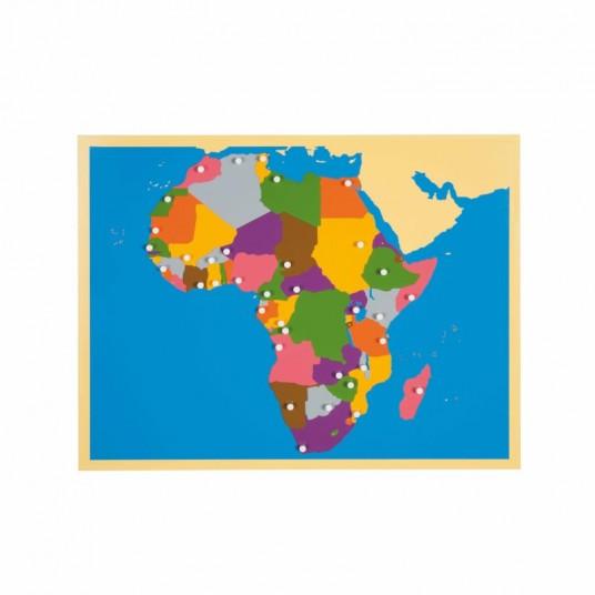 Пъзел Монтесори - карта на Африка