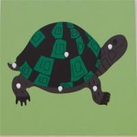 Дървен пъзел с костенурка