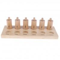 Монтесори сензорни цилиндри с пружинки