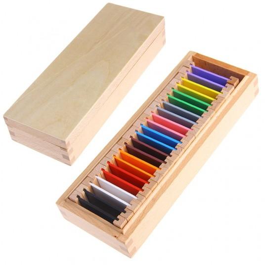 Цветни плочки на Монтесори (среден комплект)