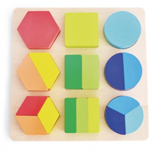 Пъзел-сортер с геометрични форми