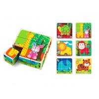 Цветни дървени кубчета