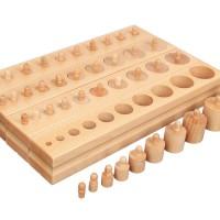 Дървени цилиндри на Монтесори  (голям комплект)