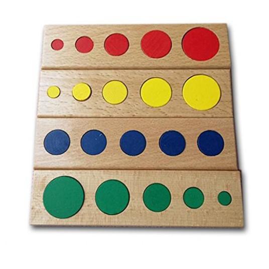Дървени цветни цилиндри