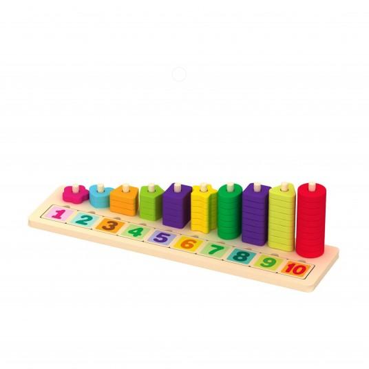 Сортер с цифри и геометрични форми 1-10