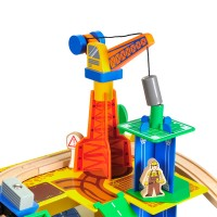 Дървено влакче с релси – 80 елемента