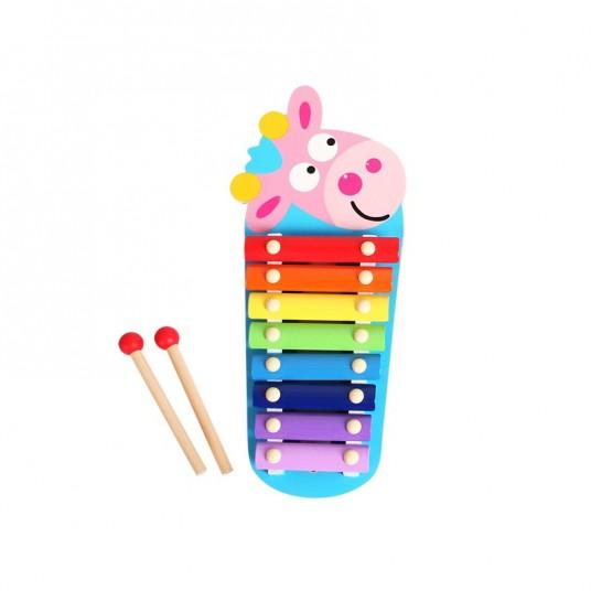 Ксилофон с розова крава
