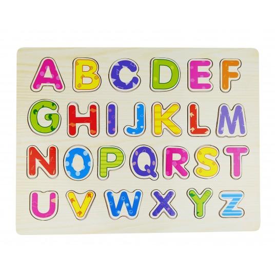 Дървен пъзел на английската азбука