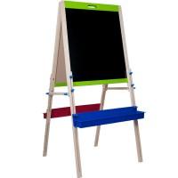 Дървена детска двустранна дъска за писане - статив