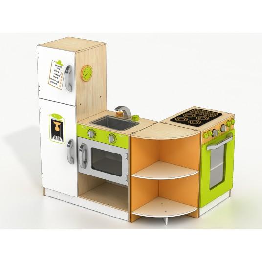 Голяма детска дървена кухня