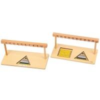 Монтесори рамки за нанизи 1-10 и 11-20