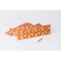 Тактилни дървени плочи за писане - 4 бр.