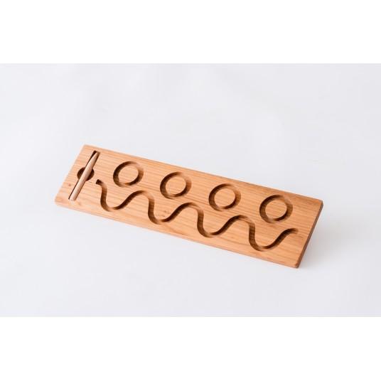 Тактилна дървена плочка за писане 4