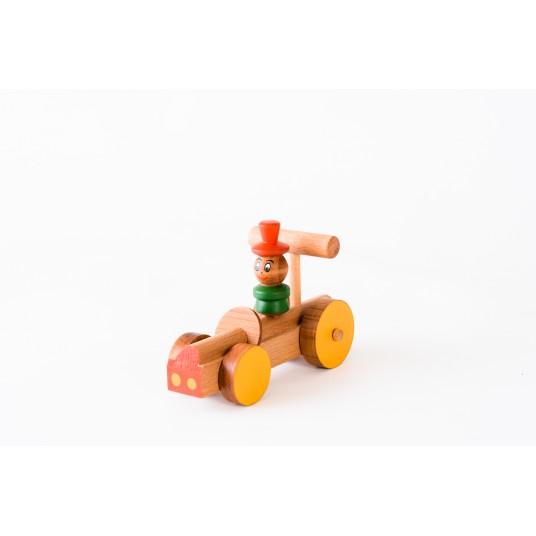 Шарена детска дървена количка