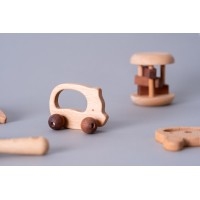 Бебешки комплект от дървени играчки – 6 броя