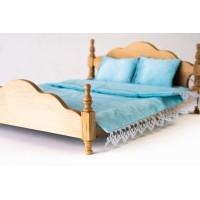 Дървено Легло за кукли - голямо