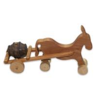 Дървено магаре с буре