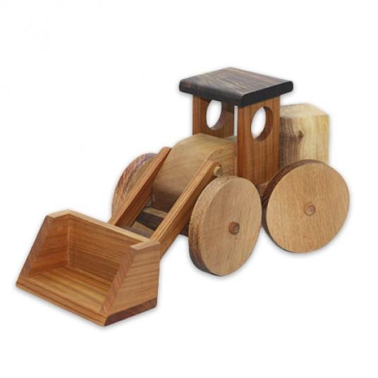 Дървен детски багер