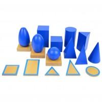 Сини геометрични тела на Монтесори