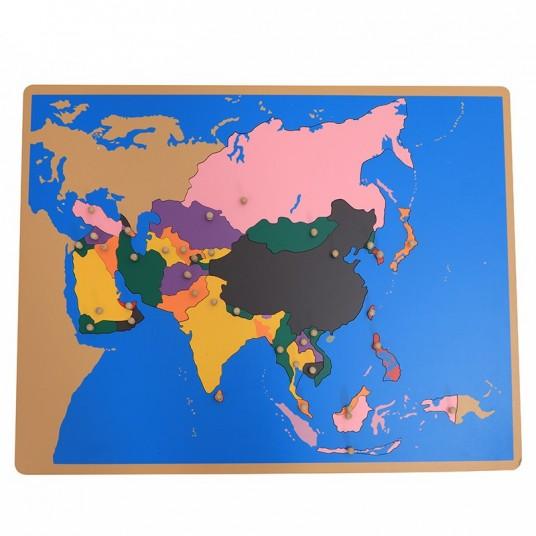 Пъзел Монтесори - карта на Азия