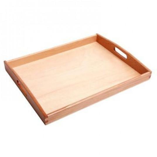 Дървен детски поднос - 25х33х3см