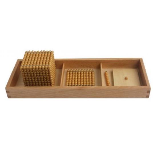 Комплект златни мъниста - 1, 10, 100, 1000 мъниста