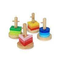 Играчка за нанизване с геометрични форми 2