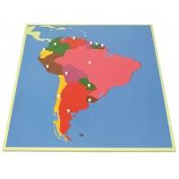 Пъзел Монтесори - карта на Южна Америка
