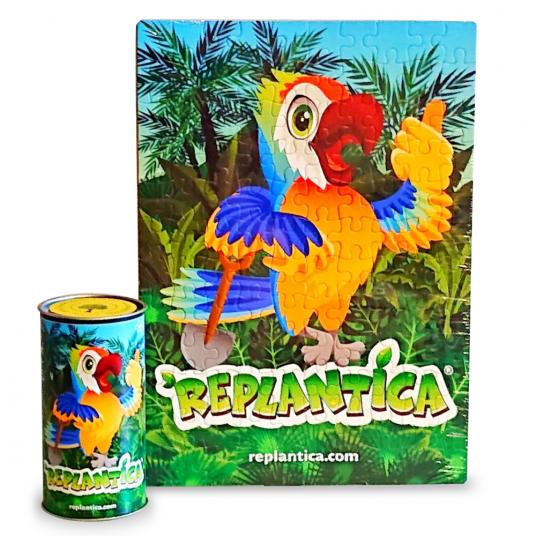 Пъзел Реплантика- папагал 120 части