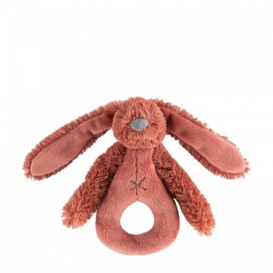 Дрънкалка Зайчето Richie - ръждиво кафяво