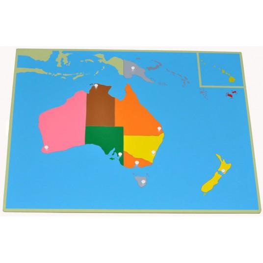 Пъзел Монтесори - карта на Океания