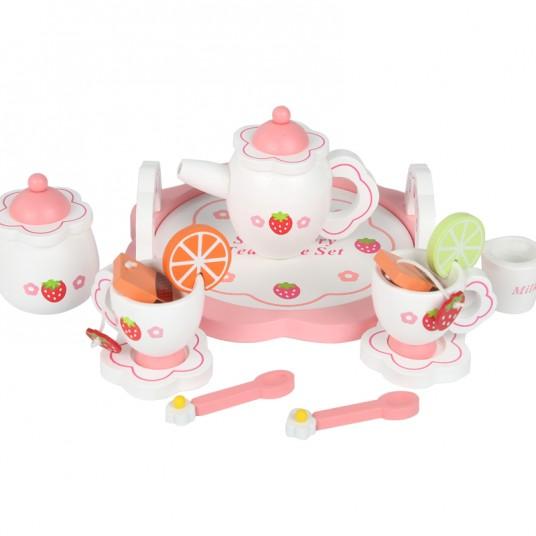 Дървен детски чаен сервиз