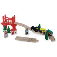 Дървено влакче с релси – 37 части