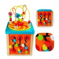 Музикален дървен образователен куб