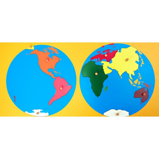 Пъзел Монтесори - карта на света