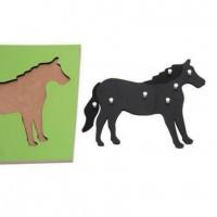 Дървен пъзел с кон