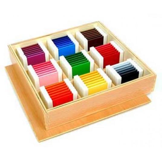 Цветни плочки на Монтесори (голям комплект)