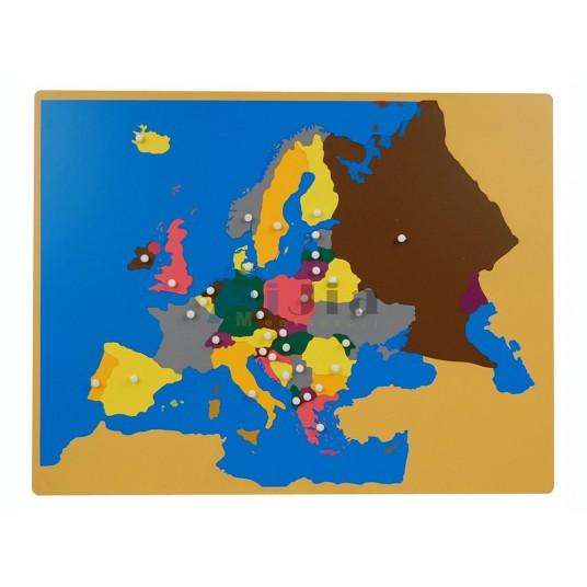 Пъзел Монтесори - карта на Европа