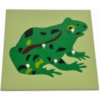 Дървен пъзел с жаба