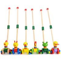 Дървена играчка за бутане